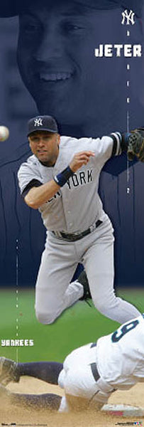 "Derek Jeter ""Big-Time"" (Door-Sized) New York Yankeees Poster - Costacos 2007"