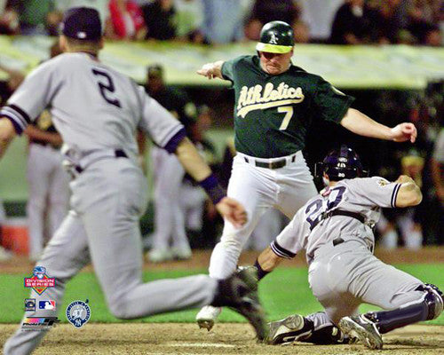 "Derek Jeter to Jorge Posada ""The Flip"" New York Yankees 2001 ALDS Premium Poster - Photofile 16x20"
