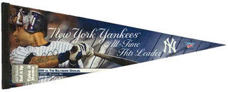 Derek Jeter All-Time Yankees Hit Leader Premium Pennant L.E. /2,772