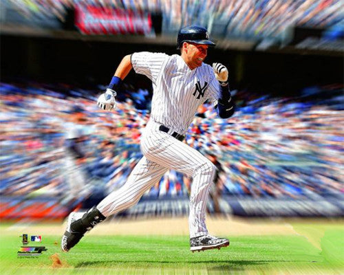 "Derek Jeter ""Motion Blast"" New York Yankees Premium Poster Print - Photofile Inc."
