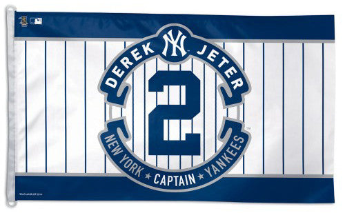 "Derek Jeter ""#2 Forever"" Official Career Commemorative GIANT 3'x5' Banner Flag - Wincraft"