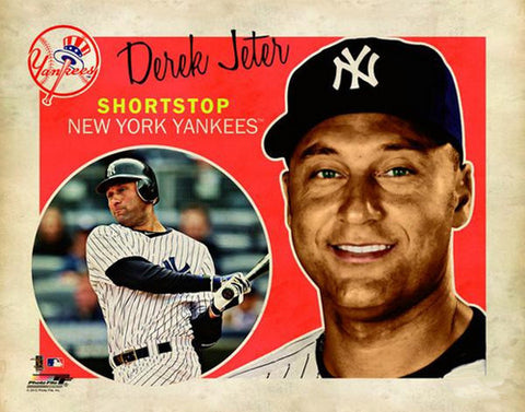 "Derek Jeter ""Retro SuperCard"" New York Yankees Premium Poster Print - Photofile 16x20"