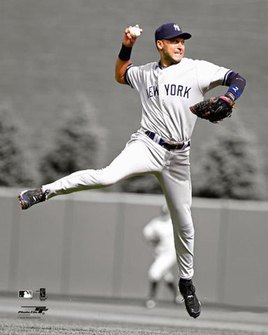 "Derek Jeter ""Jump-Toss"" Spotlight-Edition New York Yankees Premium Poster Print - Photofile Inc."