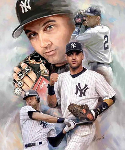 "Derek Jeter ""Hero, Legend"" New York Yankees Premium Poster Print by Wishum Gregory"
