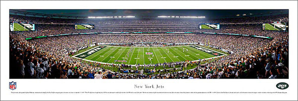"New York Jets MetLife Stadium ""Kickoff 2010"" Panoramic Poster Print - Blakeway Worldwide"