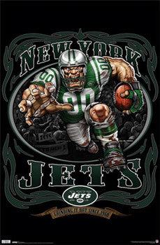 "New York Jets ""Grinding it Out Since 1960"" NFL Theme Art Poster - Costacos Sports"
