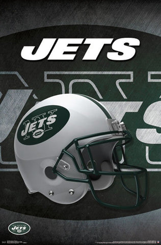 New York Jets Official NFL Football Team Helmet Logo Poster - Trends International