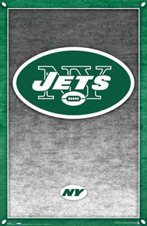 New York Jets Official NFL Team Logo Poster - Costacos Sports 2007 - LAST ONE