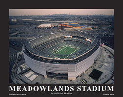 "New York Jets MetLife Stadium ""From Above"" Premium Poster Print - Aerial Views 2010"