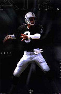 "Jeff George ""Air Raid"" Oakland Raiders QB Poster - Costacos 1997"