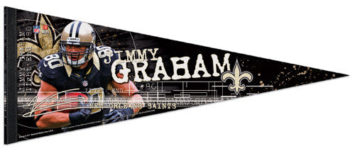 "Jimmy Graham ""Signature Series"" Saints 2012 Premium Felt Pennant - Wincraft"
