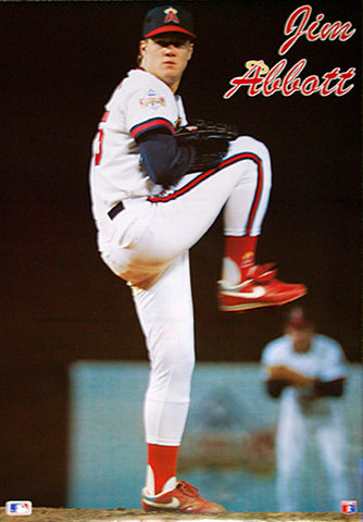 "Jim Abbott ""Ace"" California Angels MLB Action Poster - Making Waves 1989"