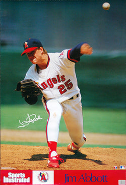 "Jim Abbott ""Signature Series"" California Angels Sports Illustrated Action Poster - Marketcom 1989"