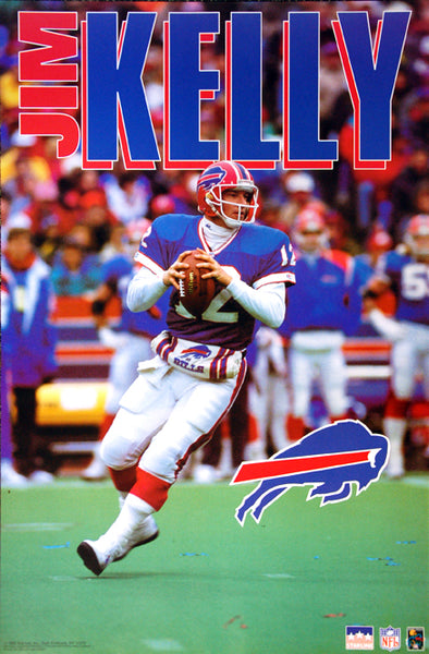 "Jim Kelly ""Action"" Buffalo Bills QB NFL Football Poster - Starline 1992"