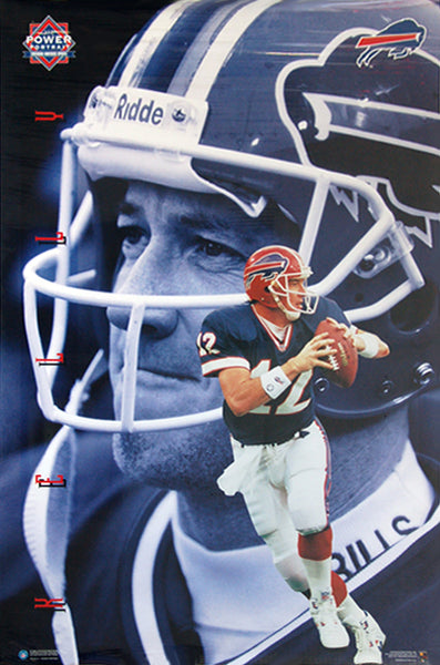 "Jim Kelly ""Superstar"" Buffalo Bills NFL Football Action Poster - Costacos Brothers 1996"
