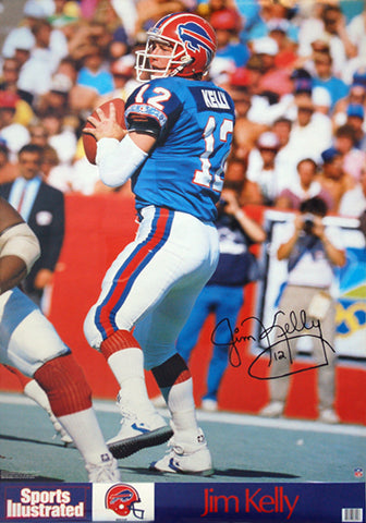 Jim Kelly NFL Signature Action Series Buffalo Bills Sports Illustrated Poster - Marketcom 1988