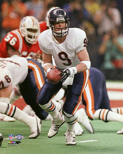 Jim McMahon Super Bowl XX (1986) Chicago Bears Action Premium Poster Print - Photofile Inc.
