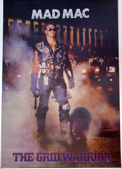 "Jim McMahon ""Mad Mac"" (1986) Chicago Bears Vintage Original Poster - Costacos Brothers"