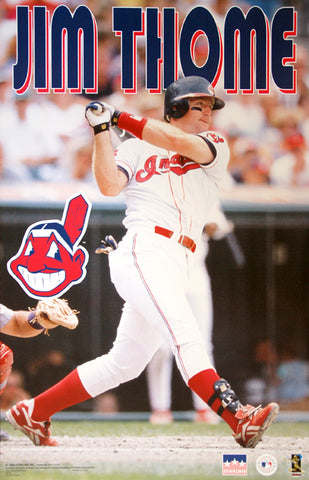 "Jim Thome ""Slam!"" Cleveland Indians MLB Baseball Action Poster - Starline 1998"