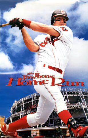 "Jim Thome ""Home Run"" Cleveland Indians Poster - Costacos 1999"