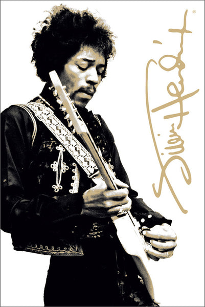 "Jimi Hendrix ""Guitar Hero"" Music Legend Poster - Aquarius Images Inc."