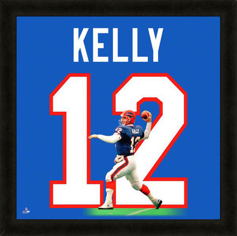 "Jim Kelly ""Number 12"" Buffalo Bills NFL FRAMED 20x20 UNIFRAME PRINT - Photofile"
