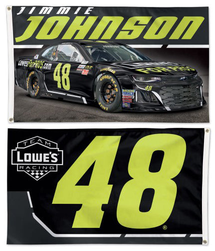 Jimmie Johnson 2018 NASCAR #48 Lowe's Chevrolet ZL1 Huge 3' x 5' Banner Flag - Wincraft