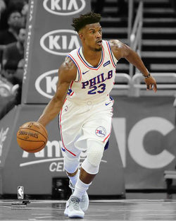 "Jimmy Butler ""Spotlight"" Philadelphia 76ers Premium NBA Basketball Poster Print - Photofile 16x20"