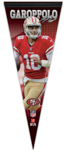 Jimmy Garoppolo San Francisco 49ers Signature Series Premium Felt NFL Collector's Pennant - Wincraft