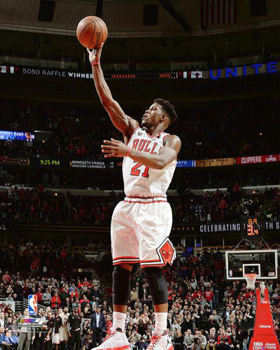 "Jimmy Butler ""Buzzer-Beater"" Chicago Bulls Premium NBA Poster Print - Photofile 16x20"