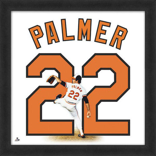 "Jim Palmer ""Number 22"" Baltimore Orioles FRAMED 20x20 UNIFRAME PRINT - Photofile"