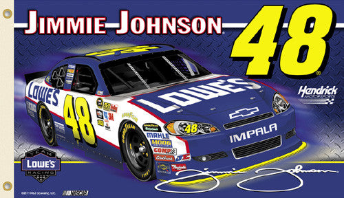"Jimmie Johnson ""Jimmie Nation"" (2011) 3'x5' Flag - BSI"