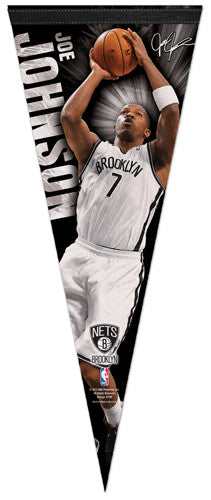 "Joe Johnson ""Signature"" Brooklyn Nets NBA Premium Felt Collector's Pennant - Wincraft 2013"