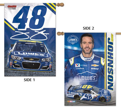 Jimmie Johnson Official NASCAR Lowe's #48 Two-Sided Wall Banner - Wincraft 2017