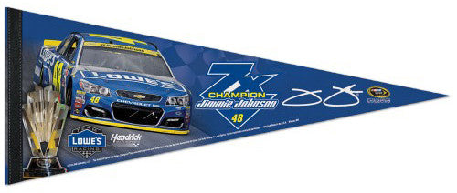 Jimmie Johnson 7-Time NASCAR Champion Premium Felt Collector's Pennant - Wincraft 2016