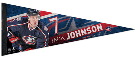"Jack Johnson ""Superstar"" Columbus Blue Jackets Premium Felt Collector's Pennant - Wincraft 2013"