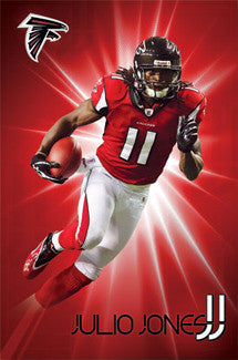 "Julio Jones ""Shining Star"" Atlanta Falcons Poster - Costacos 2011"