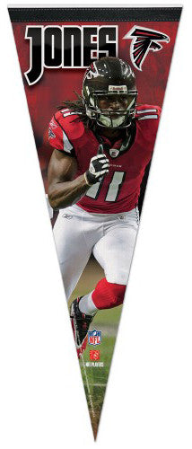 "Julio Jones ""Falcon Action"" NFL Premium Felt Pennant LE/1000 - Wincraft Inc."