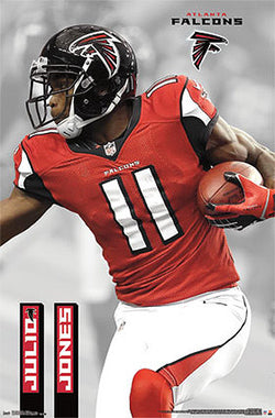 "Julio Jones ""Superstar"" Atlanta Falcons Official NFL Football Action Poster - Costacos Sports"