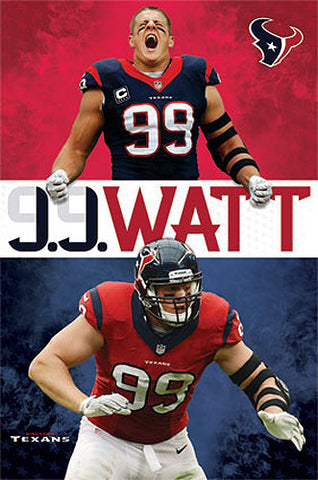 "J.J. Watt ""Superstar"" Houston Texans Official NFL Action Poster - Costacos 2013"