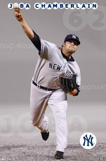 "Joba Chamberlain ""Flamethrower"" New York Yankees Poster - Costacos 2008"