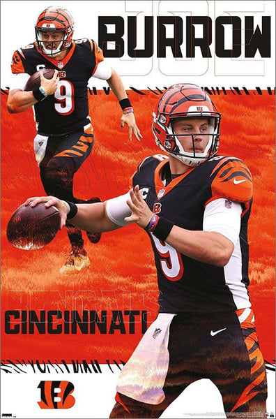"Joe Burrow ""Superstar"" Cincinnati Bengals QB NFL Action Wall Poster - Trends International 2020"