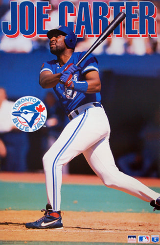 "Joe Carter ""Slugger"" Toronto Blue Jays MLB Action Poster - Starline 1995"