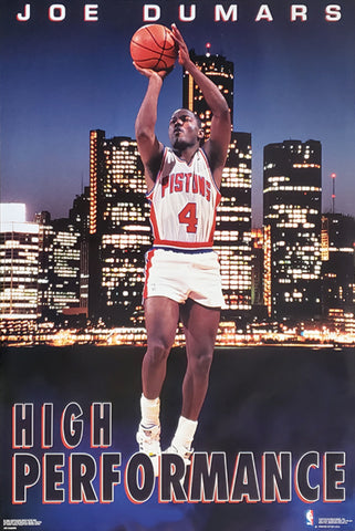 "Joe Dumars ""High Performance"" Detroit Tigers NBA Action Poster - Costacos 1993"