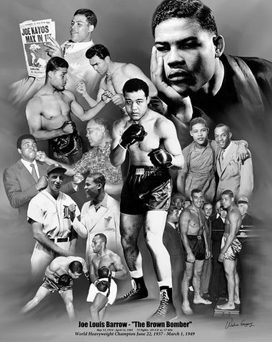 "Joe Louis ""The Brown Bomber"" Classic Boxing Commemorative Poster Print - Wishum Gregory"