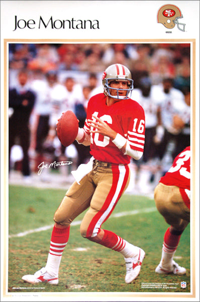 "Joe Montana ""Signature Series"" San Francisco 49ers Poster - Marketcom Sports Illustrated 1987"