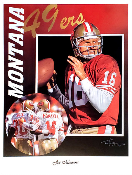 "Joe Montana ""Glory Days"" San Francisco 49ers Premium Art Poster Print by Tim Cortes"