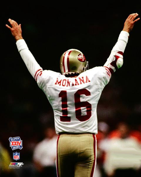 "Joe Montana ""Glory"" Super Bowl XXIV (1990) San Francisco 49ers Premium Poster Print - Photofile Inc."