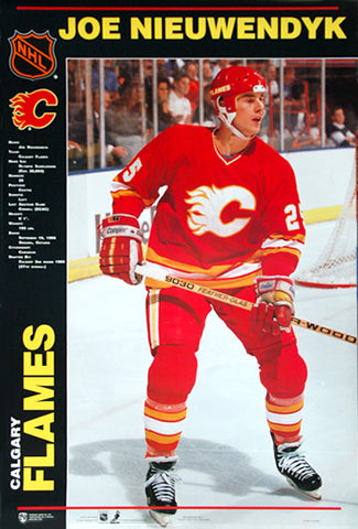 "Joe Nieuwendyk ""Classic"" Calgary Flames NHL Action Poster - Norman James 1990"