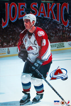 "Joe Sakic ""Classic Action"" Colorado Avalanche NHL Hockey Poster - Starline Inc. 1997"